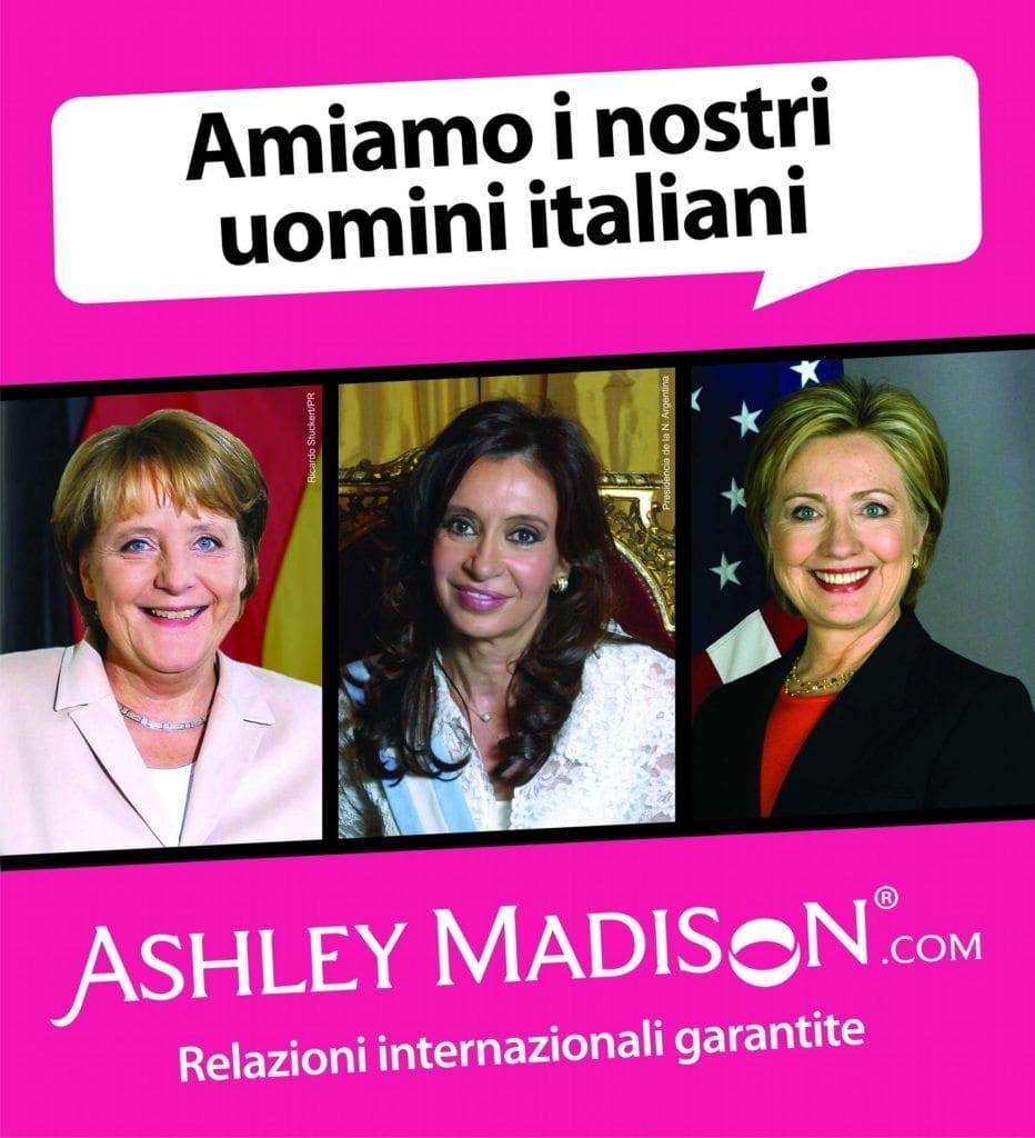 Angela Merkel, Cristina De Kirchner e Hillary Clinton portavoce involontarie per una campagna pubblicitaria