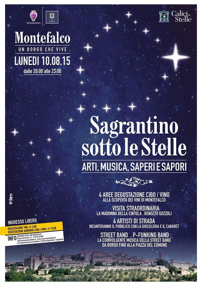"""Sagrantino sotto le stelle: a Montefalco """"Arti, Musica, Saperi e Sapori"""""""