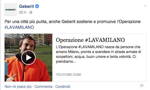 Geberit per Operazione #Lavamilano