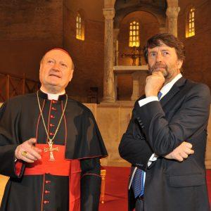 Ministro Franceschini e il Cardinal Ravasi