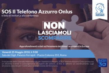 1,2 milioni le chiamate per i bambini scomparsi in tutta Europa