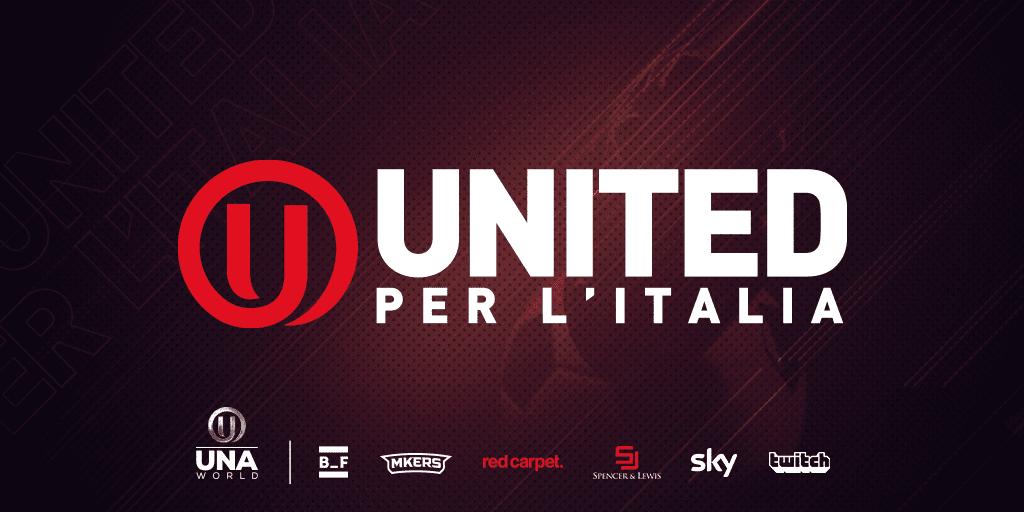 logo united per l'italia e loghi partner